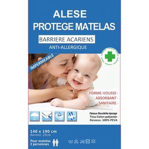 PROTÈGE MATELAS  Alèse protège-matelas Imperméable - Anti-acariens