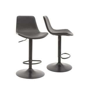 By Demeyere Tomy Lot De 2 Tabouret De Bar Style Industriel à