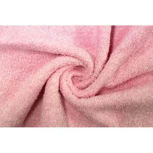TISSU Tissu Éponge Bulky Rose -Au Mètre