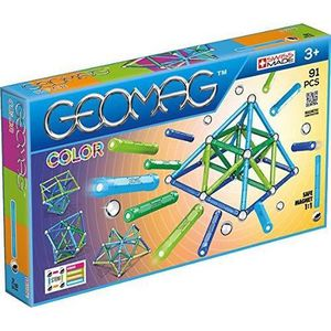 ASSEMBLAGE CONSTRUCTION Geomag- Jeux de Construction, GMC03, Multicolore,