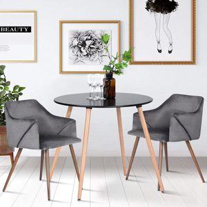 TABLE À MANGER SEULE HOMY CASA Table à manger noir 4 places ronde bois