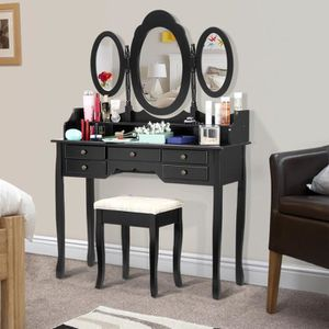 COIFFEUSE LANGRIA Coiffeuse Table de Maquillage avec 7 Tiroi