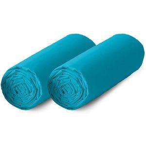 DRAP HOUSSE TODAY Lot de 2 draps housse 100% coton - 90x190 cm