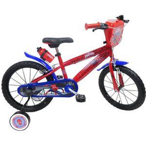 VÉLO ENFANT Vélo 16'' SPIDERMAN  équipé de 2 freins, bidon / p