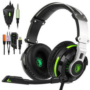 CASQUE AVEC MICROPHONE SADES SA933 Casque Gaming pour PS4 Xbox One, Casqu