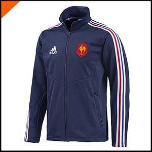 Veste FFR Equipe de France Rugby… Bleu Marine Achat