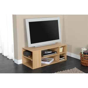 meuble tv beige achat vente pas cher soldes cdiscount. Black Bedroom Furniture Sets. Home Design Ideas