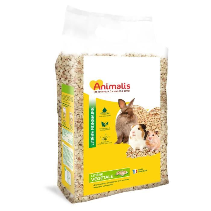 Animalis - Litière Végétale pour Rongeur - 5L