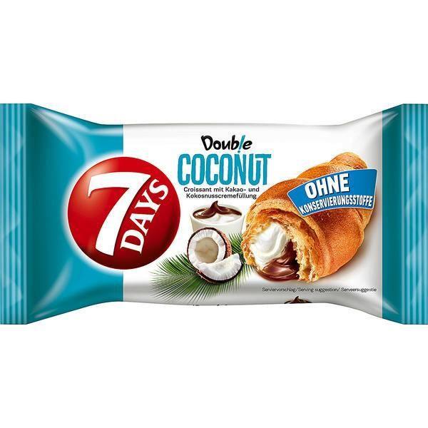 7 Days Double noix de coco coconut Croissant 60g (Pack de 10)