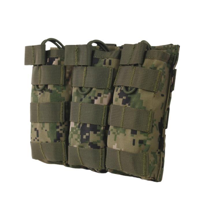 1 Pc Attachement Triple Sac Anti-usure Portable Durable Accessoire Molle Attachment Pouch pour Camping En SAC A DOS DE RANDONNEE