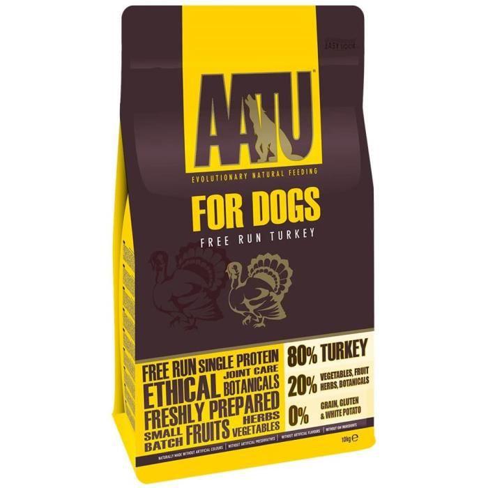 AATU 80-20 Dry Dog Food, Turkey, High Protein, Grain Free Recipe, No Artificial Ingredients, 10 kg 692297