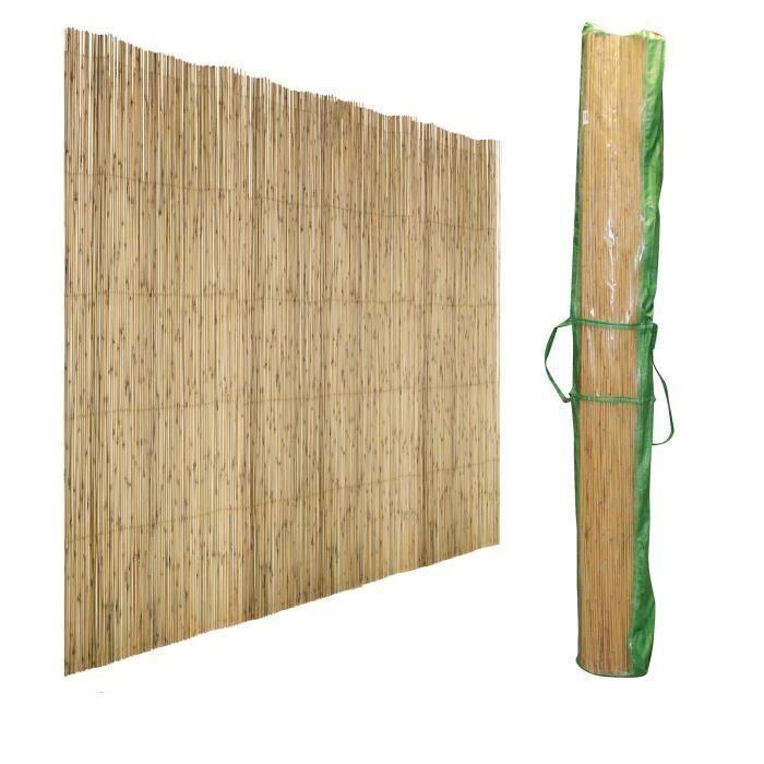 Brise vue - Canisse roseau naturel - Toile d'ombrage 1 x 5 mètres