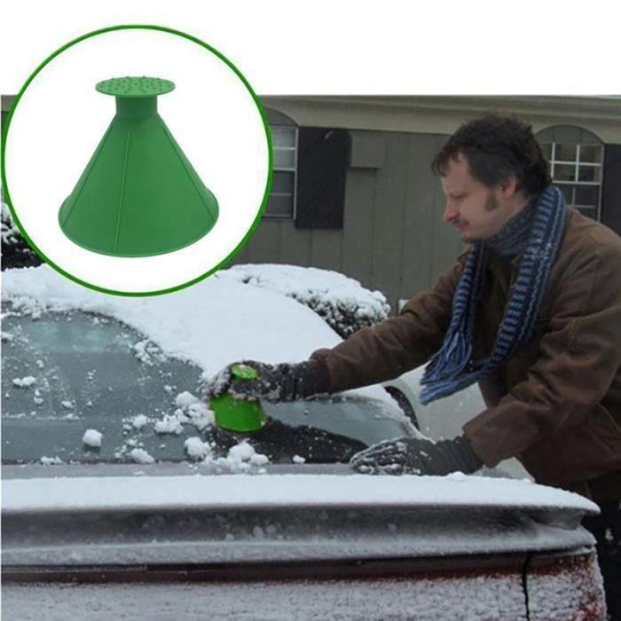 2pcs Déneigeur Pelle magique Grattoir à glace entonnoir pare-brise neige pour voiture