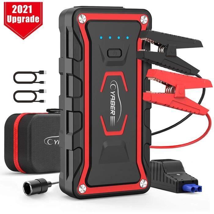 Booster Batterie Voiture, YABER 1600A 20000mah Booster de Batterie Voiture Moto ( Toute Essence, jusqu'à 7.0L Diesel ) avec Deu A15