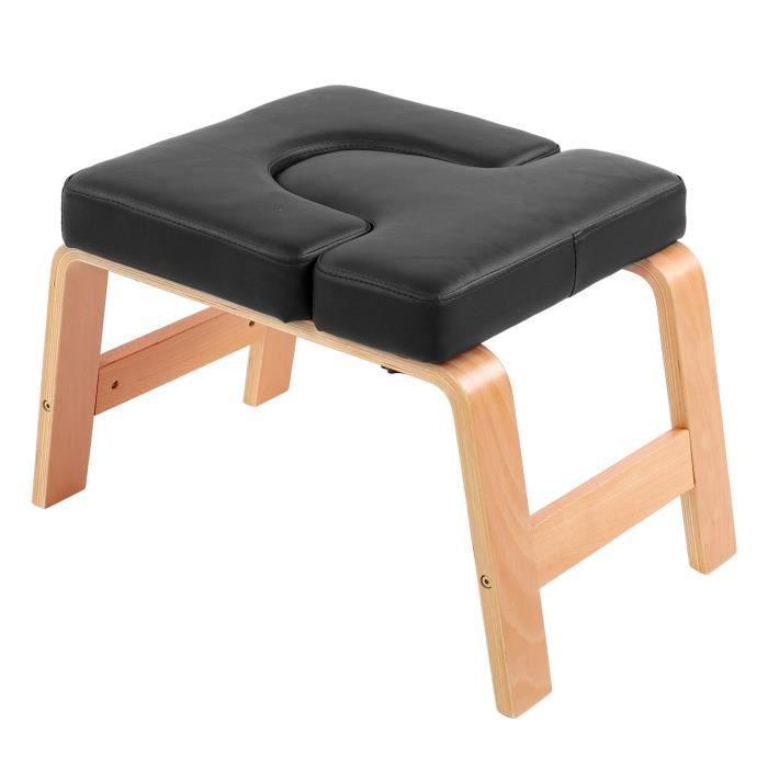 Liy-AYNEFY Chaise de yoga Chaise d'Inversion de Yoga Tabouret de Poirier de Musculation à Maison de Gym de Femmes Hommes(Noir )