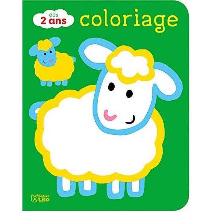 #1633 Coloriages pour les tout-petits : Les animaux de la ferme - Dès 2 ans - 8 pages Format 24x19 cm