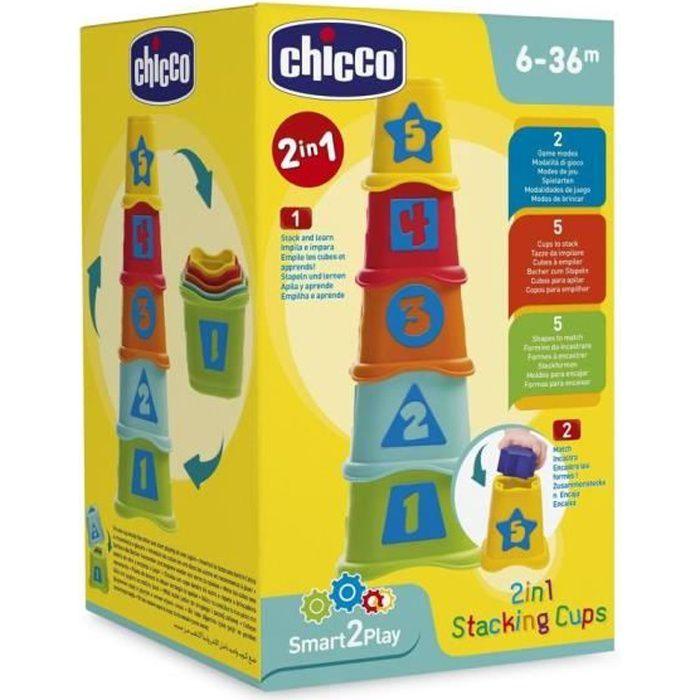 CHICCO Cubes à Empiler 2 en 1