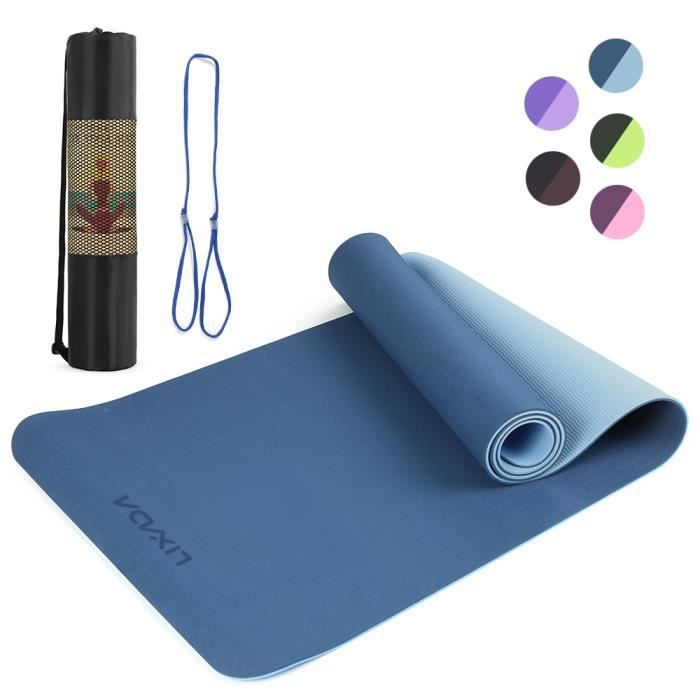Lixada 72.05 × 24.01in Portable Double Dual-colour Yoga Mat Thicken Sports Mat Tapis d'exercice antidérapant pour les entraîneme-645