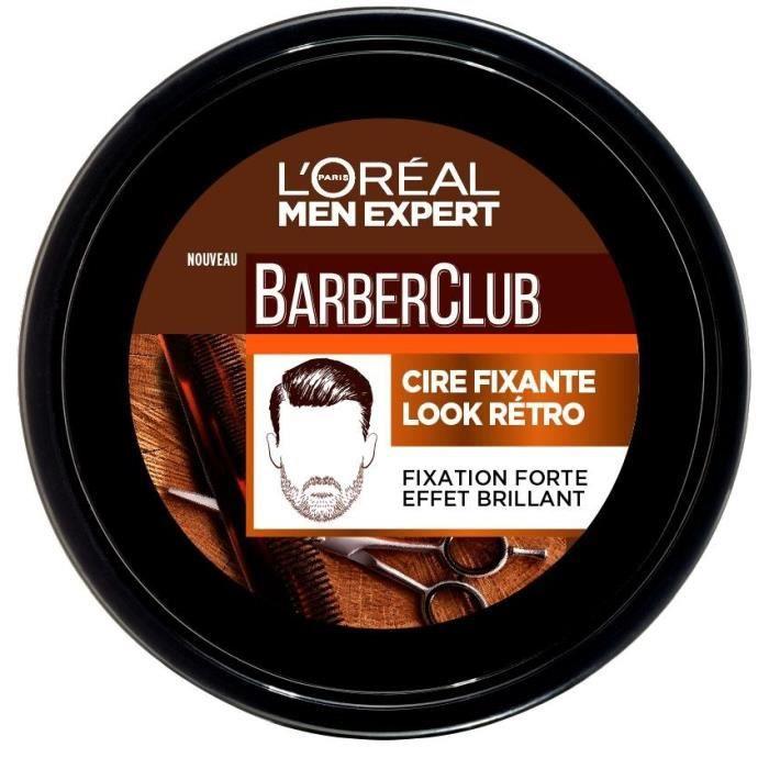 L'OREAL PARIS Men Expert Barber Club Cire Fixante Look Rétro - 75 ml