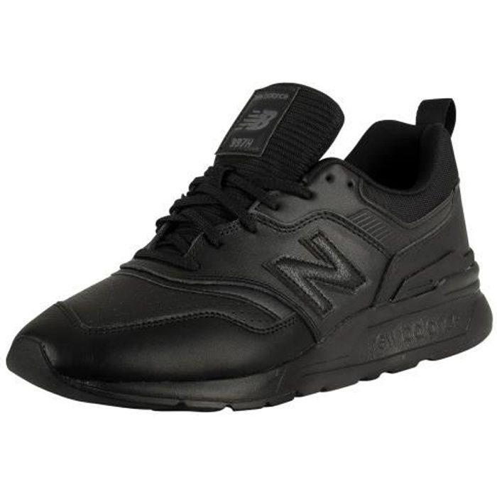 New Balance Homme Baskets en cuir 997H, Noir