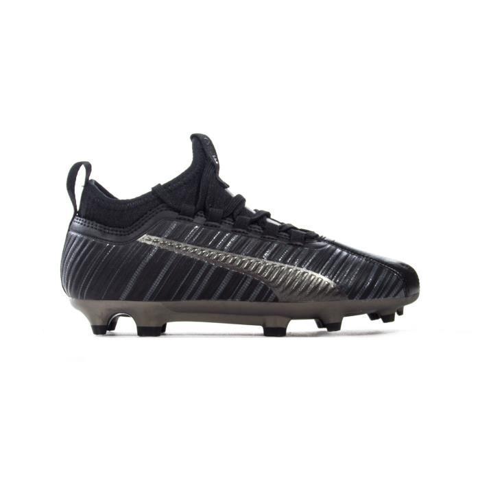 Puma One 5.3 FG / AG Chaussure de football pour enfants - Junior - Terrain ferme - Noir / argent