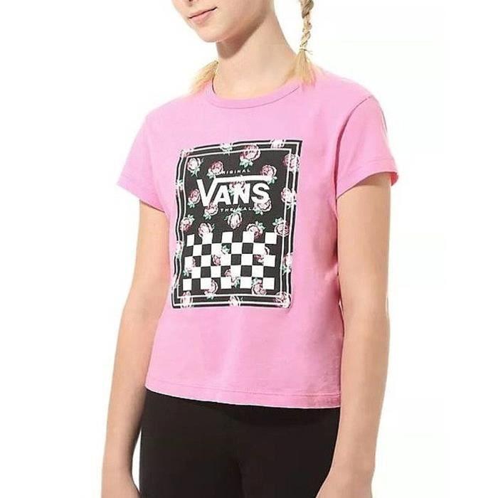 T-Shirt rose fille Vans GR Boxed Rose