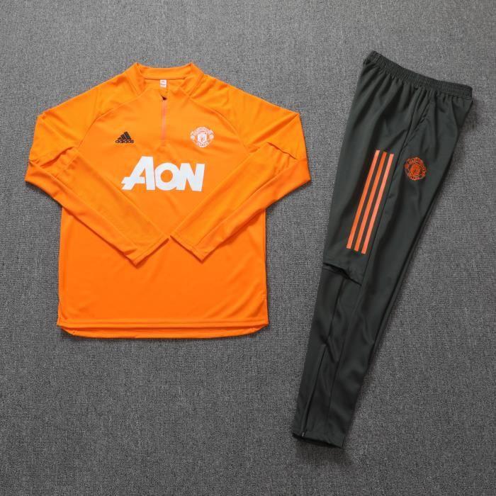 Survêtements Foot Homme Manchester United - Maillot Foot Enfants Garçon Homme 20-21 Survêtements Foot Maillot de Foot