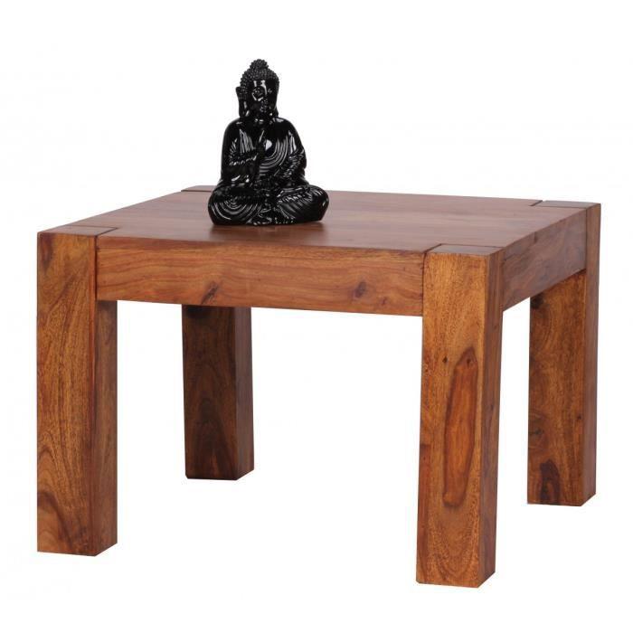 Table basse design en bois massif de Sheesham 60 cm