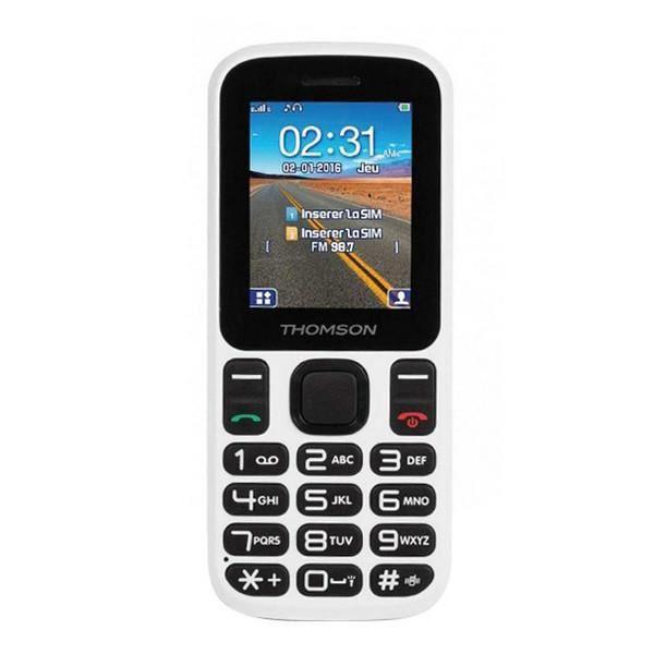 Téléphone portable pour personnes âgées Thomson TLINK T12 1,77' Bluetooth VGA FM Blanc