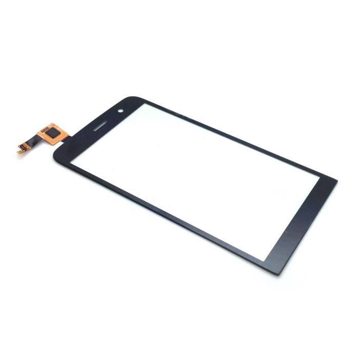 Ecran vitre tactile noire pour Wiko Slide noir