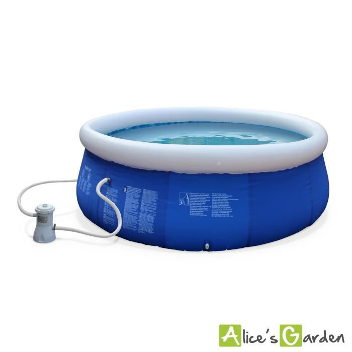Agate piscine autoportante 300 bleue achat vente for Achat piscine autoportante
