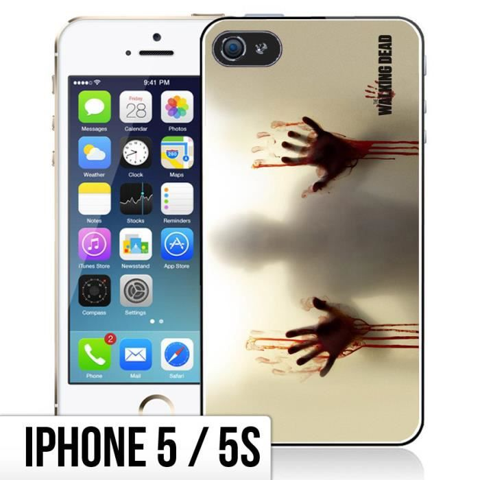 coque iphone 5 5s the walking dead mains