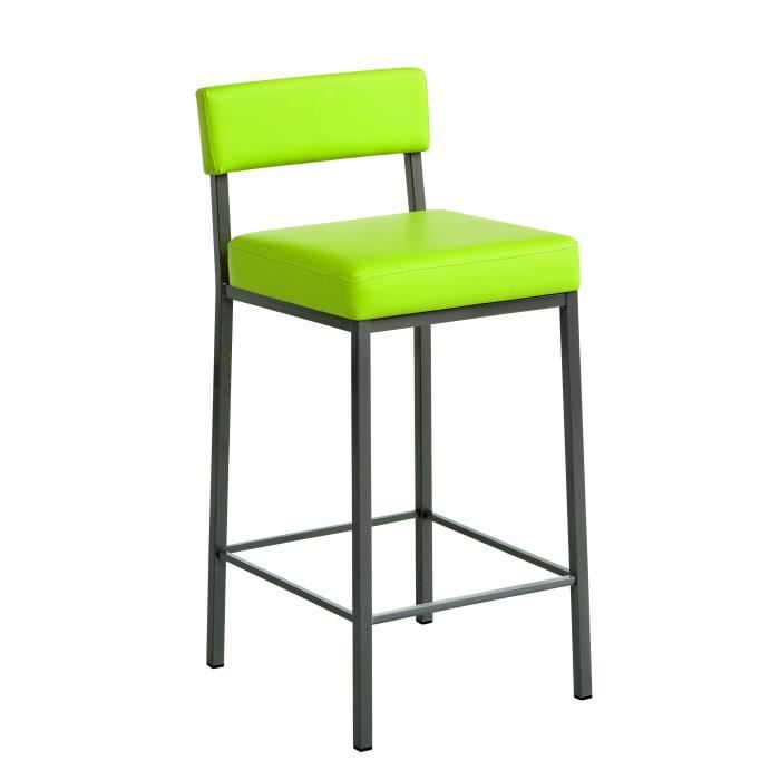 tabouret de bar design quinta ht65 l 38 x p 46 x h 85 cm pieds ep84 gris brun rev tement. Black Bedroom Furniture Sets. Home Design Ideas