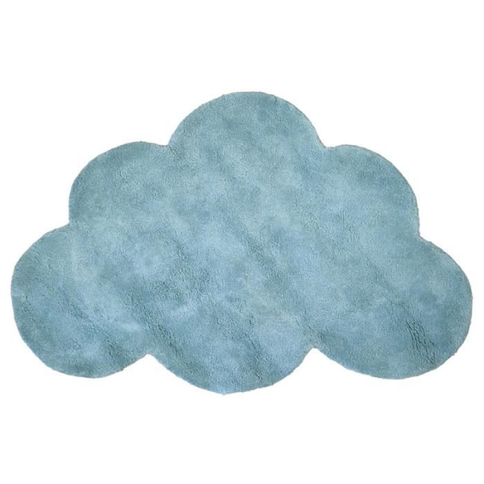 tapis enfant coton nuage bleu gris lilipinso achat vente tapis cdiscount. Black Bedroom Furniture Sets. Home Design Ideas