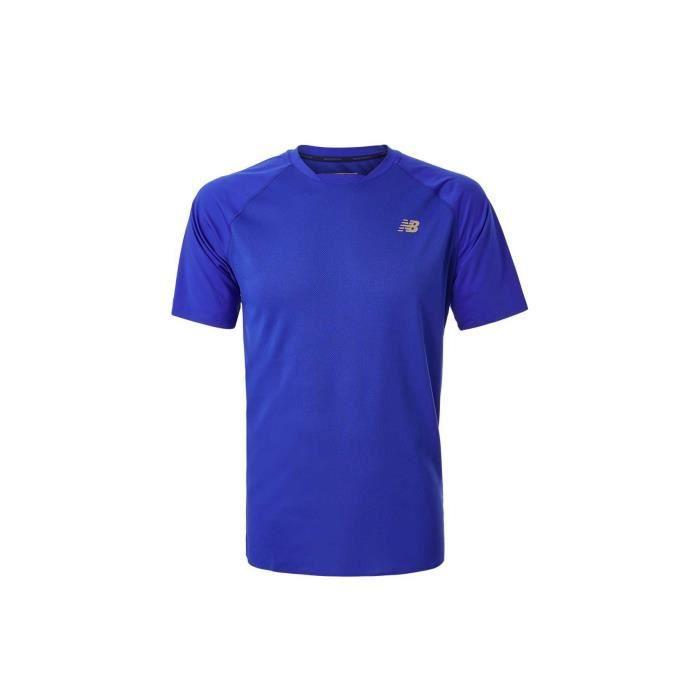 MAILLOT DE TENNIS T-Shirt NEW BALANCE Homme TOURNAMENT Bleu 2019