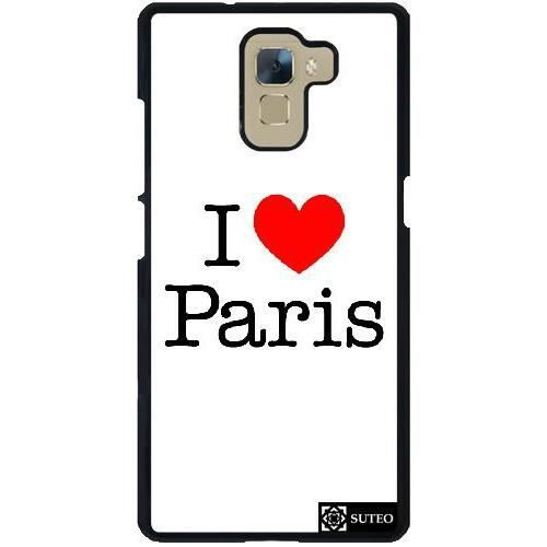 telephonie accessoires portable gsm coque huawei honor  i love paris f sut