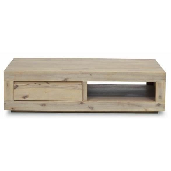 Fossil table basse en acacia truffe blanchie achat - Table basse en acacia ...