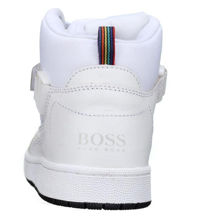 Basket enfant Hugo Boss J29141 10b Blanc