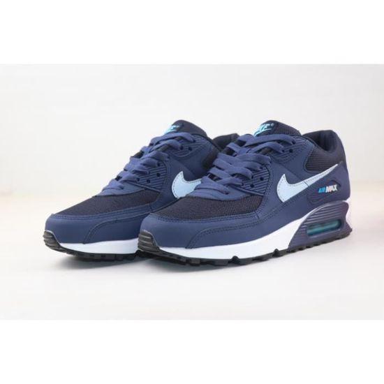 Baskets Nike Air Max 90 Chaussures de running pour Homme Bleu Bleu ...