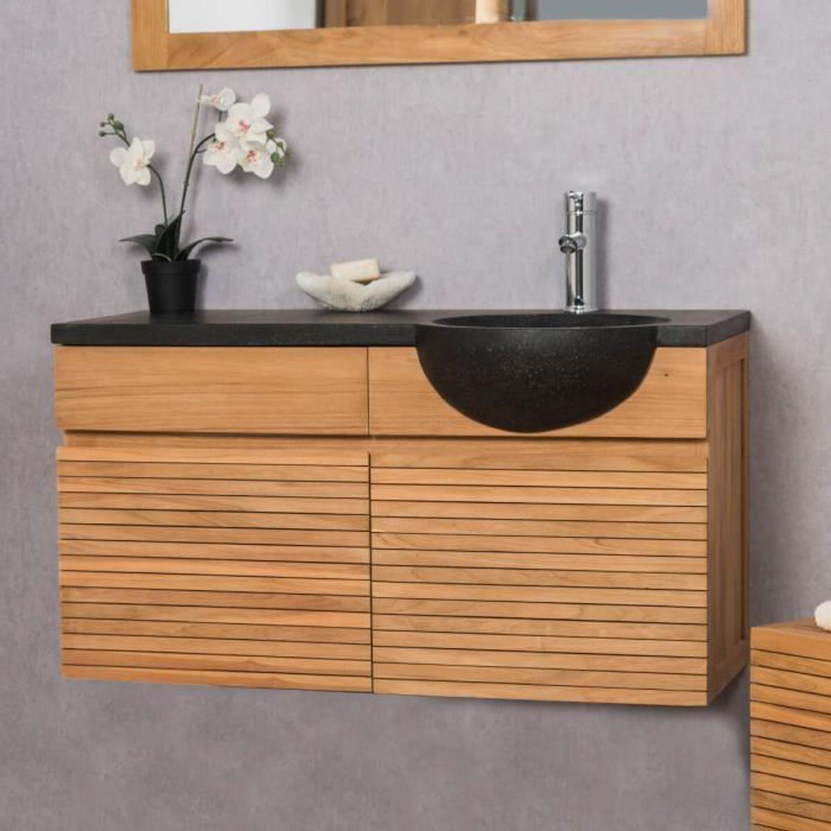 Salle De Bain Avec Bois meuble salle de bain bois exotique