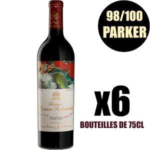 VIN ROUGE X6 Château Mouton Rothschild 2015 75 cl AOC Pauill