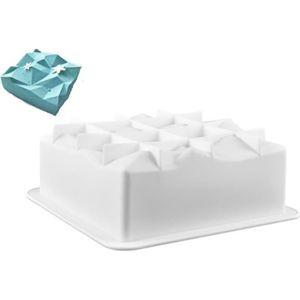 MOULE  Moule silicone gâteau forme carré facette diamant,