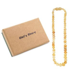 COLLIER AMBRE collier d ambre bebes(Butterscotch Raw)(33cm) - Bo