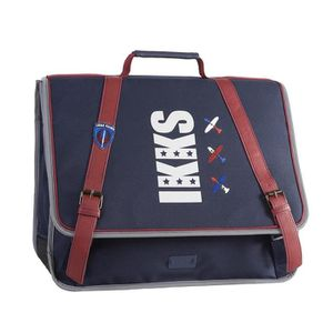 CARTABLE Cartable 41 cm IKKS FLIGHT 0018 - Bleu