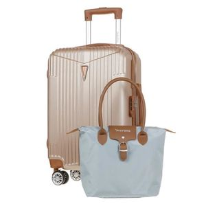 VALISE - BAGAGE MURANO Valise cabine 55cm avec Sac shopping - Coul