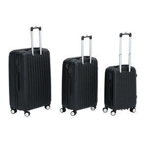 VALISE - BAGAGE Ensemble Valise rigide Noir - 3 x bagage serrure -