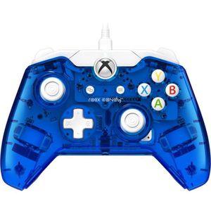 MANETTE JEUX VIDÉO Manette filaire Xbox One Rock Candy Bleue (compati
