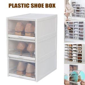 BOITE DE RANGEMENT 3 pcs Boîte à chaussures de rangement empilable po