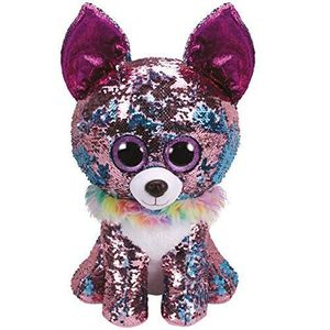 PELUCHE Ty- Flippables Large-Peluche Sequins Yappy Le Chih