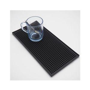 TABOURET DE BAR Tapis de bar en caoutchouc noir - 30 x 15 cm